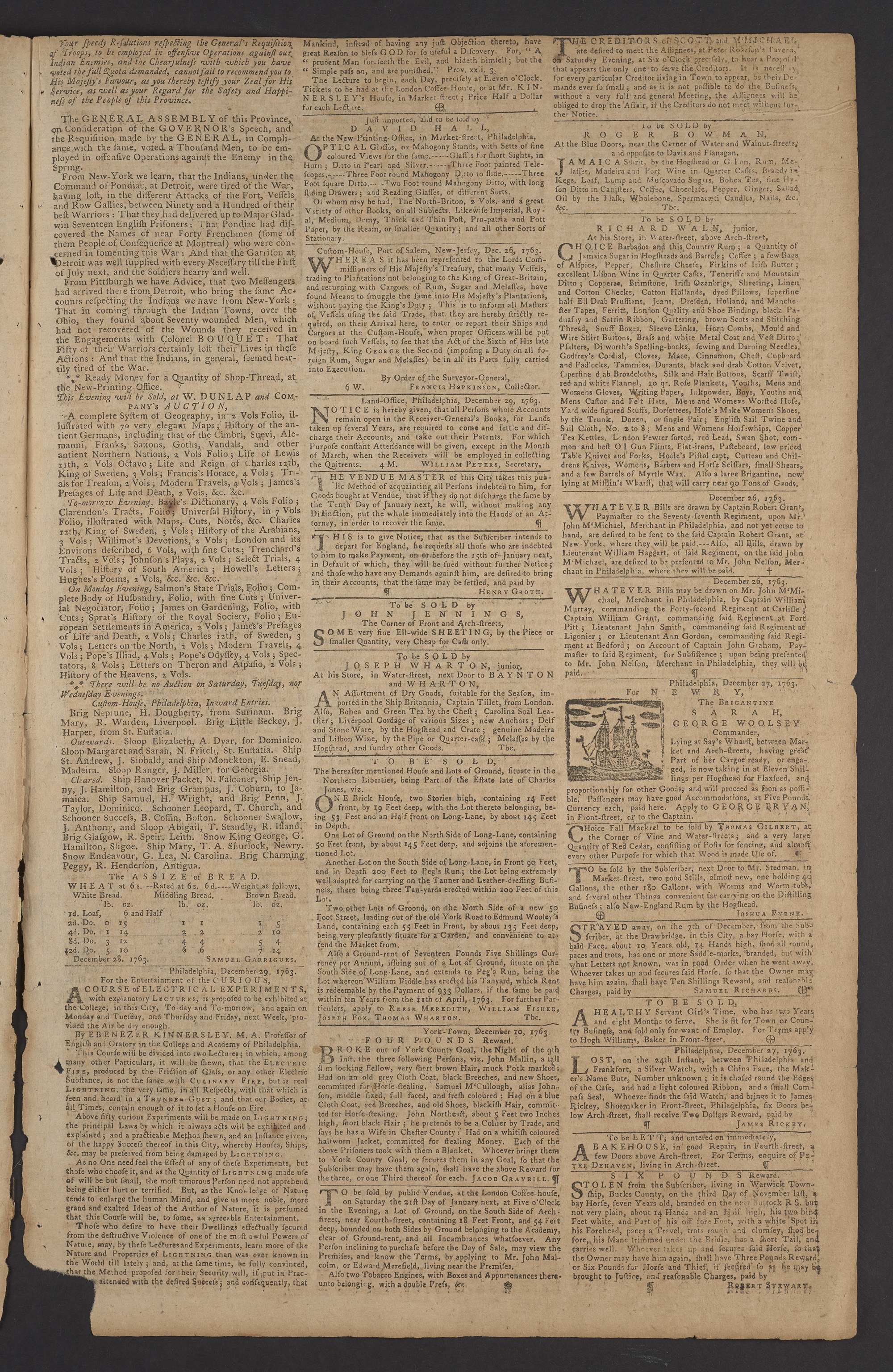 The Pennsylvania Gazette, December 29, 1763 - 2